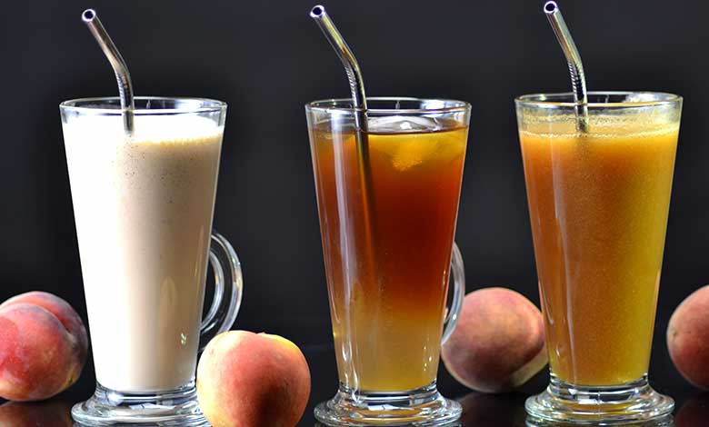 Peach iced tea, Shake & Juice